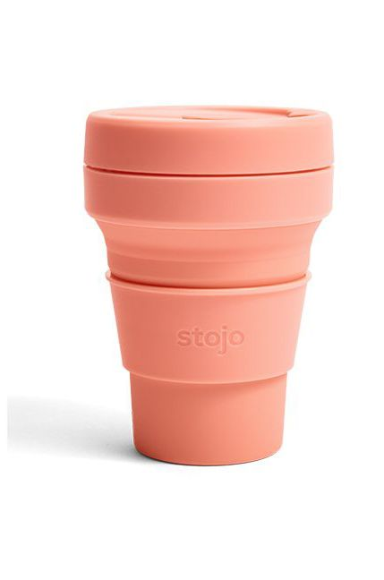 Stojo Cup POCKET CUP COLLAPSED PACKAGING Apricot