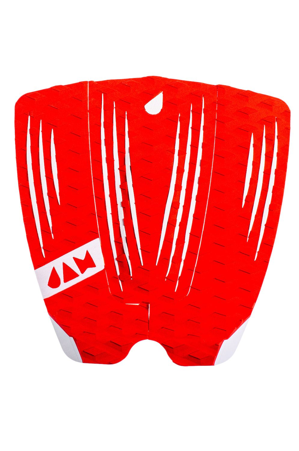 Jam Deck RECKLESS 3 PIECE TRACTION PAD Red/White Stripes