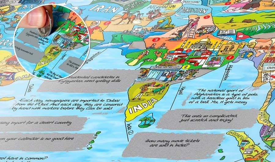 DV Surftripmap Mapa WTFACT MAP EN Assorted