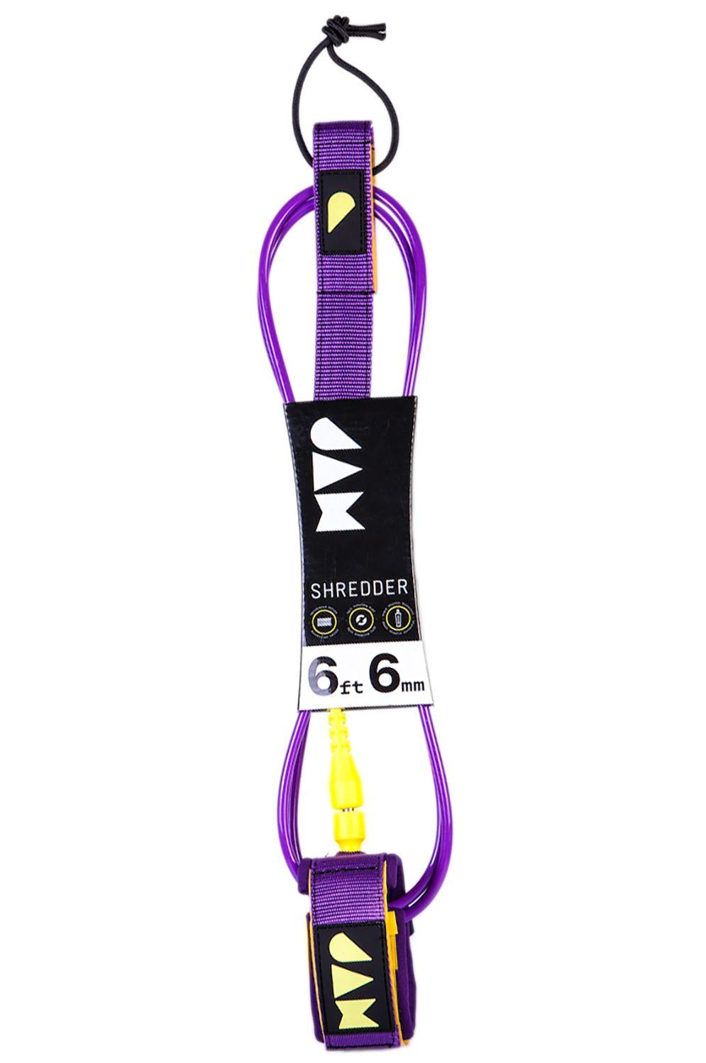 Leash Jam SHREDDER LEASH 6FT 6MM Purple Yellow