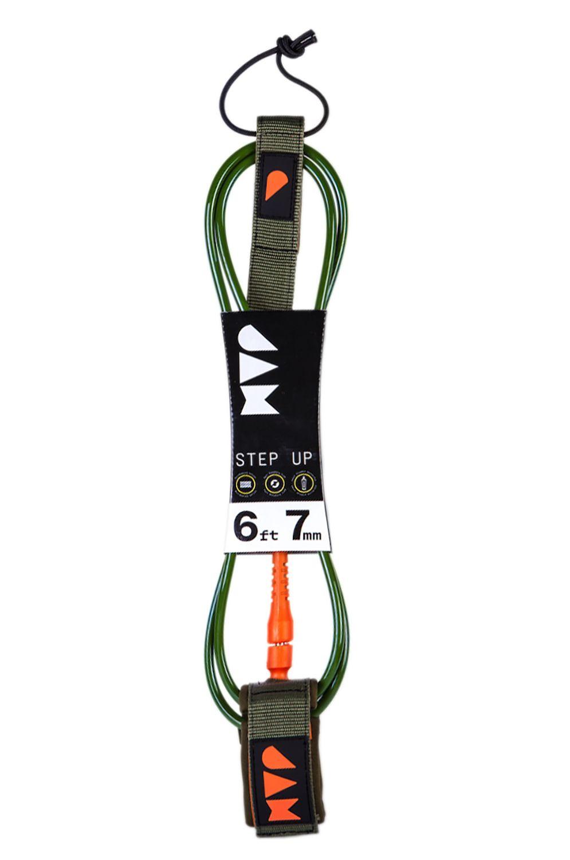 Leash Jam STEP UP LEASH 6FT 7MM Dark Green/Bright Orange