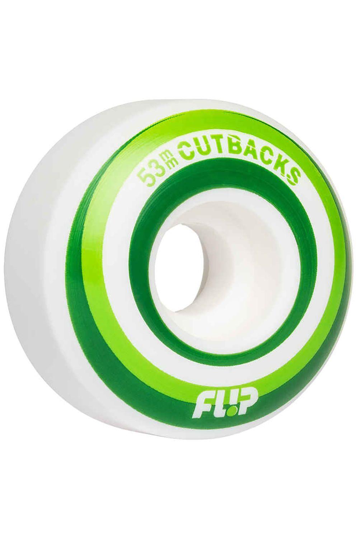 Flip Skate Wheels 53MM CUTBACK 99A Green
