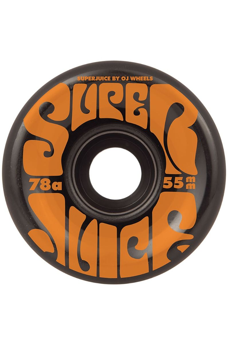 OJ Wheels Skate Wheels 55MM MINI SUPER JUICE BLACK 78A Black