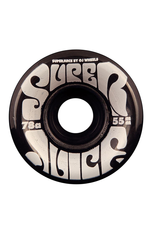 OJ Wheels Skate Wheels 55MM MINI SUPER JUICE TRANS BLACK 78A Assorted