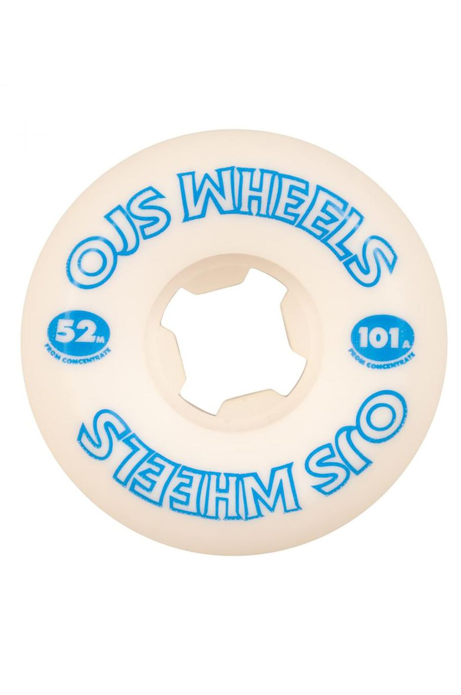 OJ Wheels Skate Wheels 52MM FROM CONCENTRATE HARDLINE 101A White