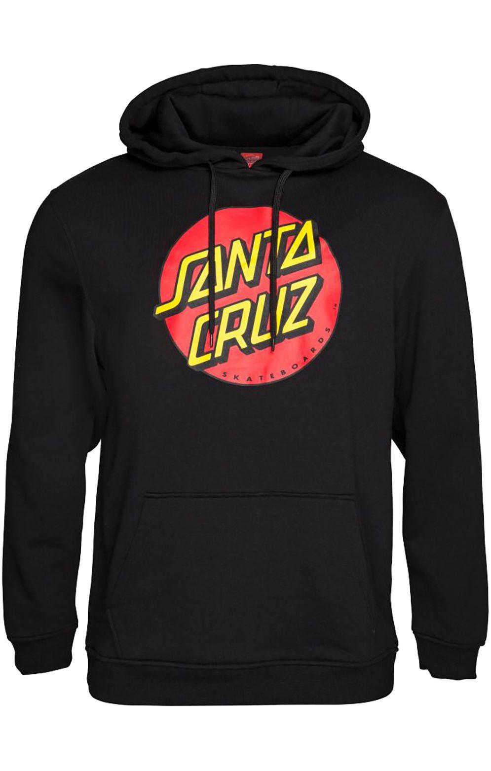 Sweat Capuz Santa Cruz CLASSIC DOT Black