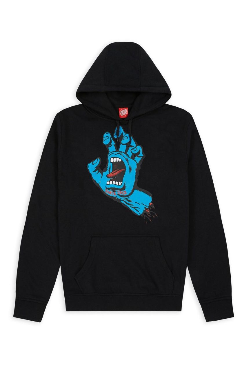 Santa Cruz Sweat Hood SCREAMING HAND Black