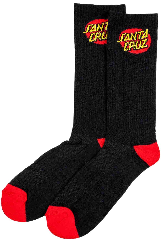Santa Cruz Socks CLASSIC DOT WHITE/BLACK 2PK Assorted