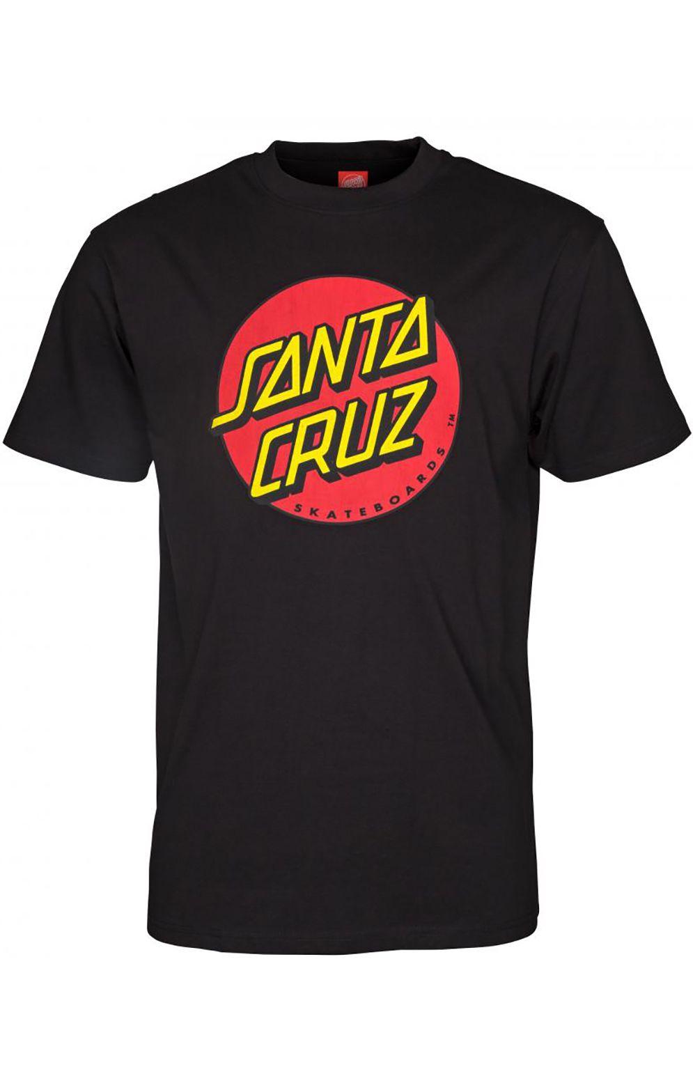 T-Shirt Santa Cruz CLASSIC DOT Black
