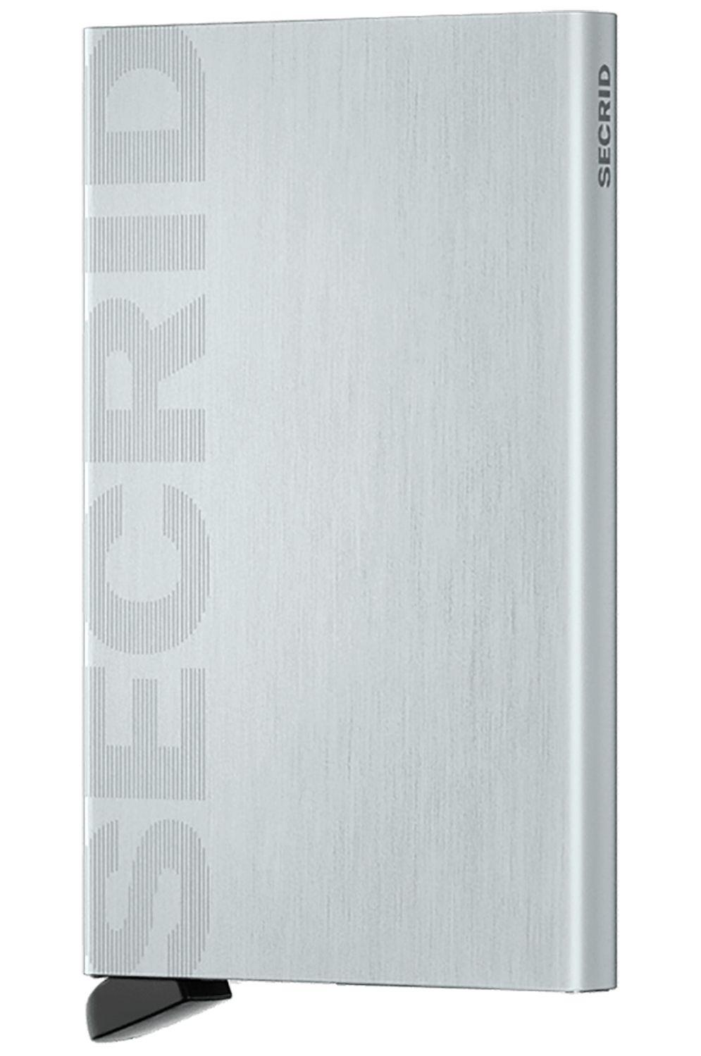 Secrid Leather Wallet CARDPROTECTOR LASER Logo Brushed Silver