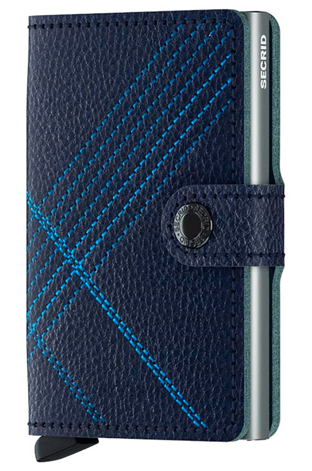Carteira Pele Secrid STITCH MINI Linea Navy