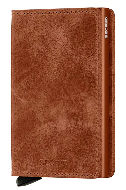 Secrid Leather Wallet SLIMWALLET VINTAGE Cognac/Rust