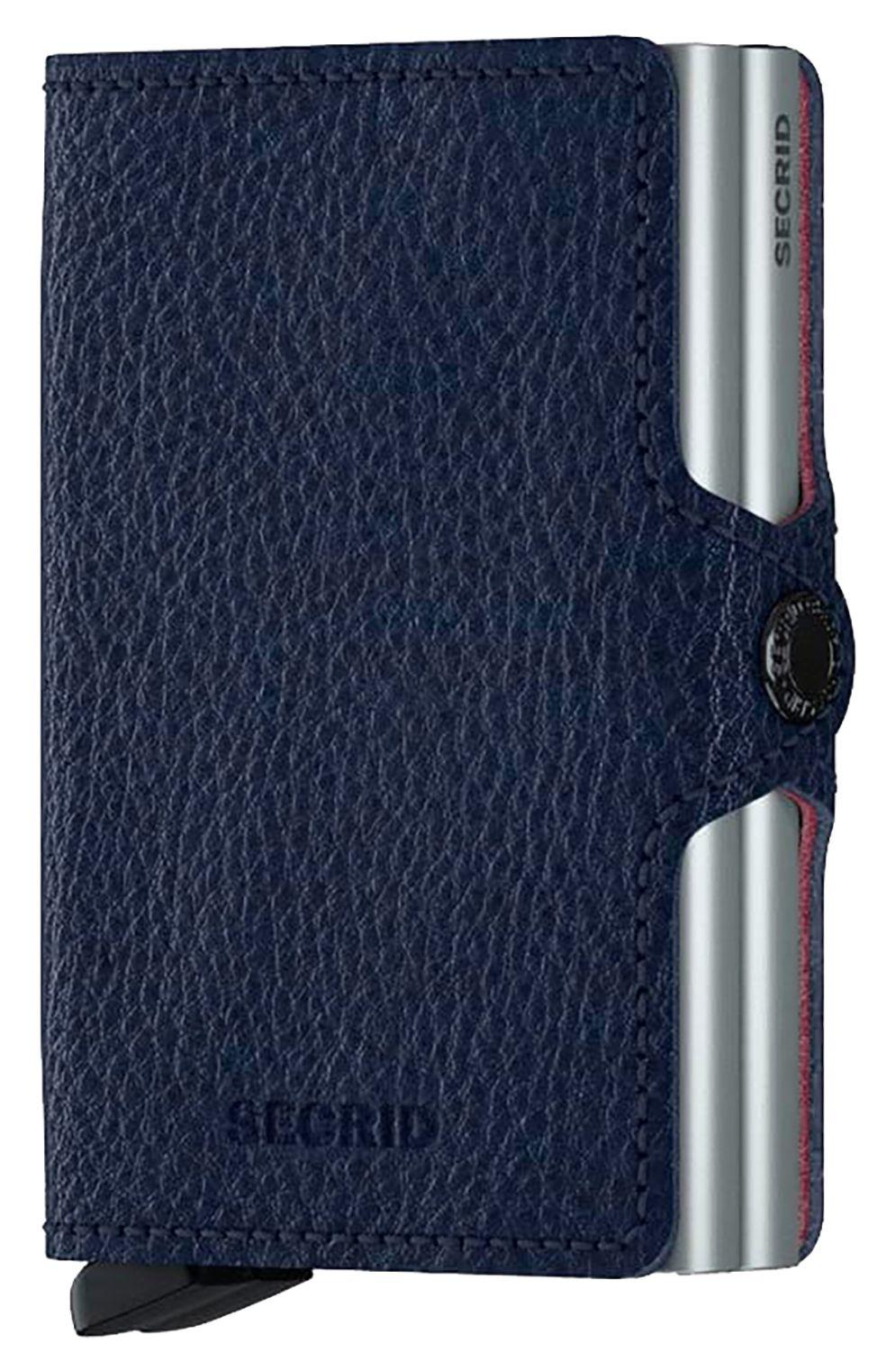 Secrid Leather Wallet TWINWALLET VEG TANNED Navy