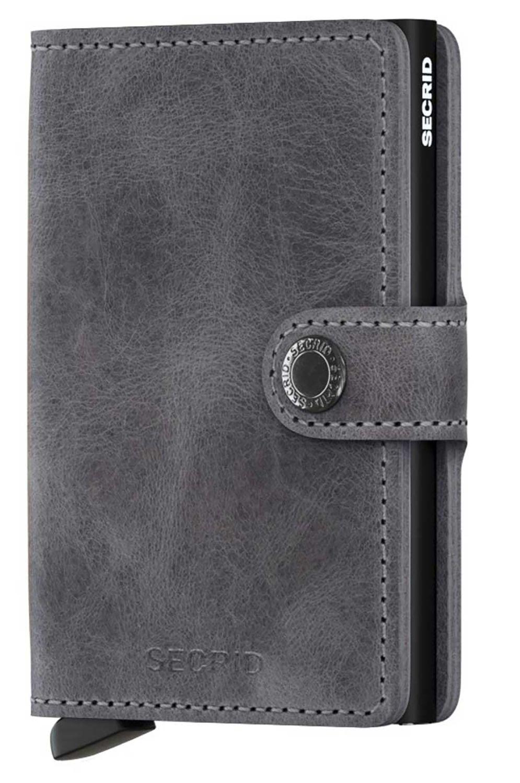 Secrid Leather Wallet MINIWALLET VINTAGE Grey/Black