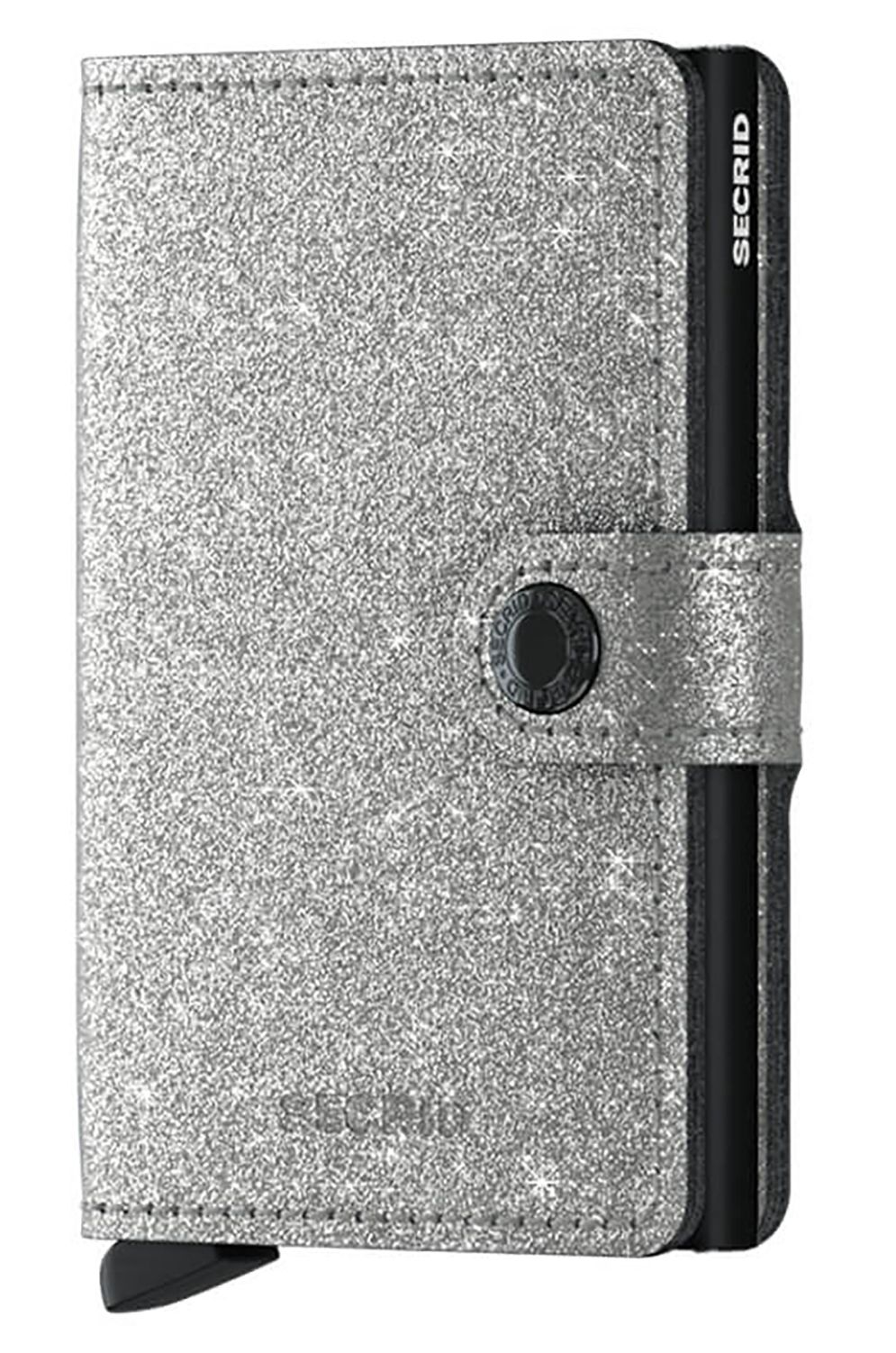 Secrid Leather Wallet MINIWALLET CRYSTALLINE Silver