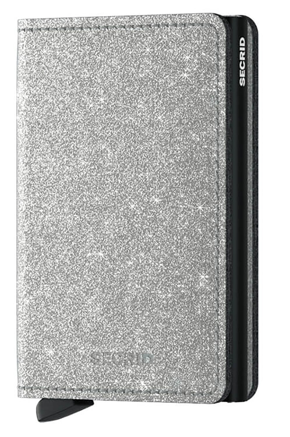 Secrid Leather Wallet SLIMWALLET CRYSTALLINE Silver