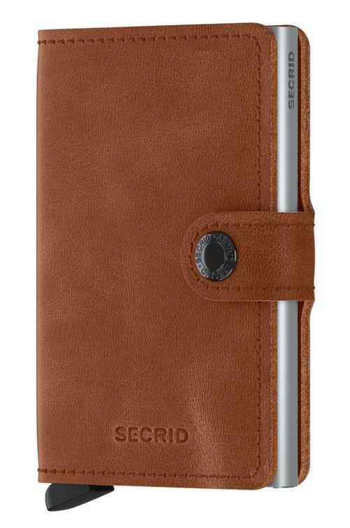 Secrid Leather Wallet MINIWALLET VINTAGE Cognac/Silver