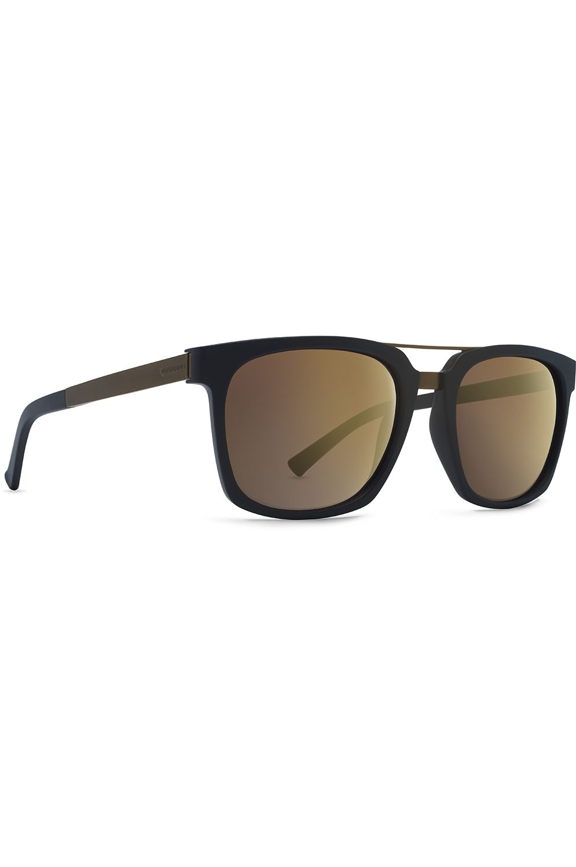 VonZipper Sunglasses PLIMPTON Black Satin Rust / Rust Gradient