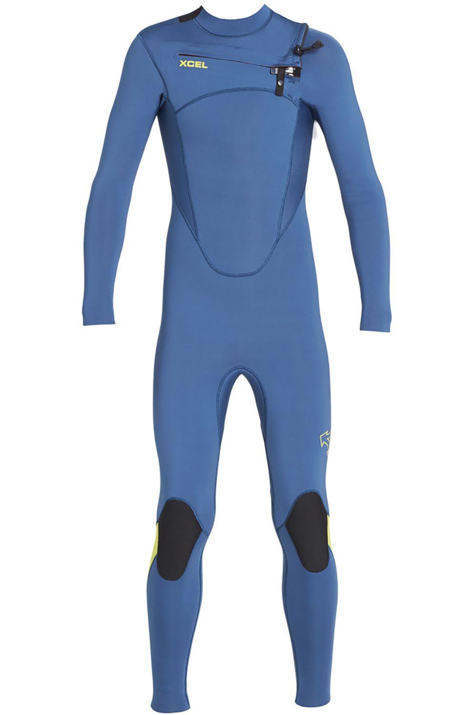 Xcel Wetsuit 3/2MM COMP X2 FULLSUIT Cascade Blue/Lemon Ale 3x2mm