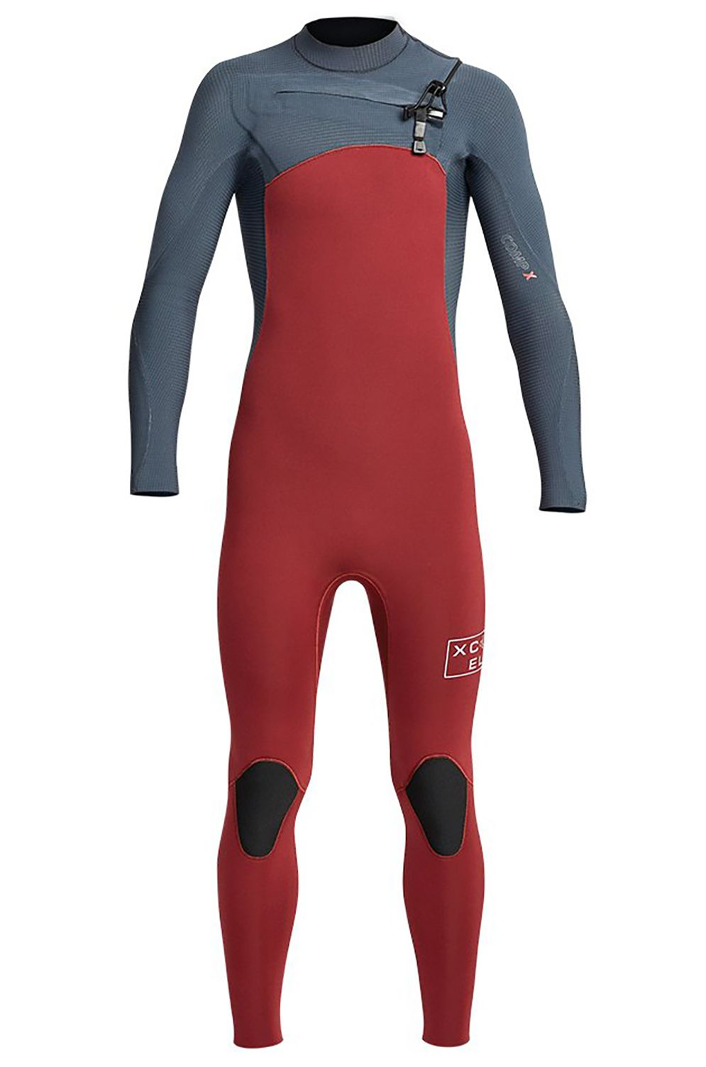 Fato Neoprene Xcel YOUTH COMP X 4/3MM - X2 FULLSUIT Chili Pepper/Gunmetal 4x3mm