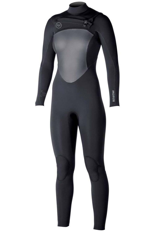 Xcel Wetsuit GIRLS 4/3MM X2 TDC INFINITI All Black-W/Silver Logos 4x3mm