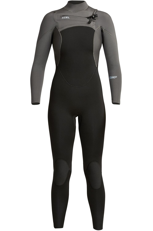 Xcel Wetsuit COMP 4/3MM - FULLSUIT THERMO LITE Black/Jet Black 4x3mm