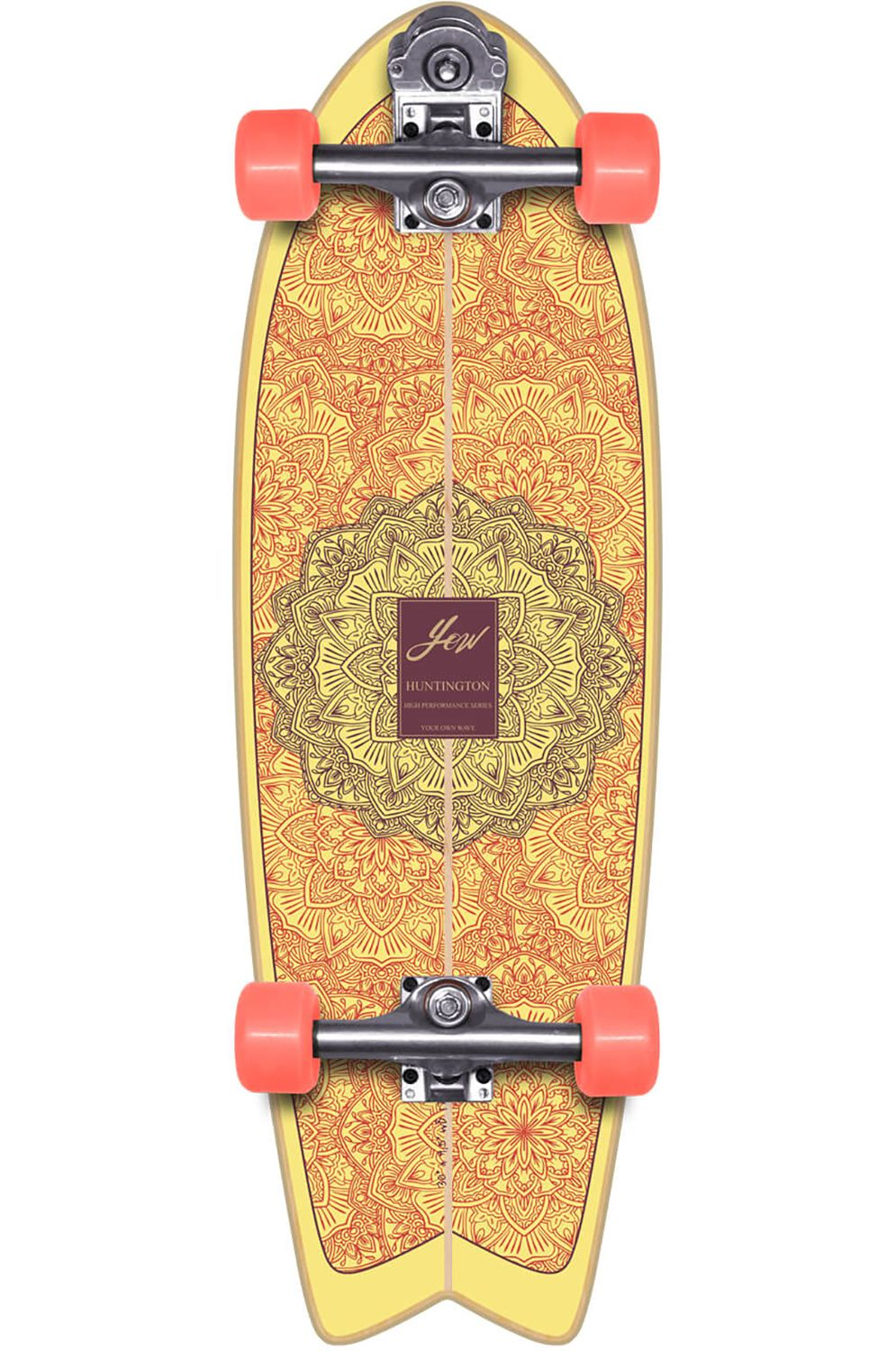 "Yow Surf Skate 30"" HUNTINGTON BEACH HIGH PERFORMANCE SERIES Orange"