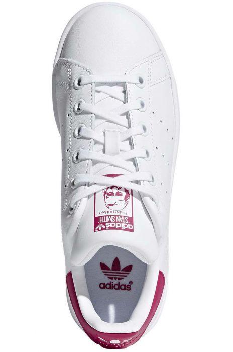 Adidas Shoes STAN SMITH J Ftwr WhiteFtwr WhiteBold Pink 35.5