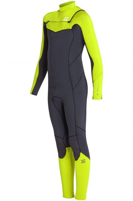 80b9352bf6ac Billabong Wetsuit 403 FURN ABSO CZ GB Neon Yellow