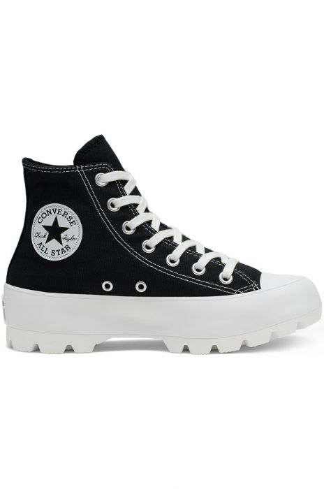 Converse Shoes CHUCK TAYLOR ALL STAR LUGGED HI BlackWhiteBlack