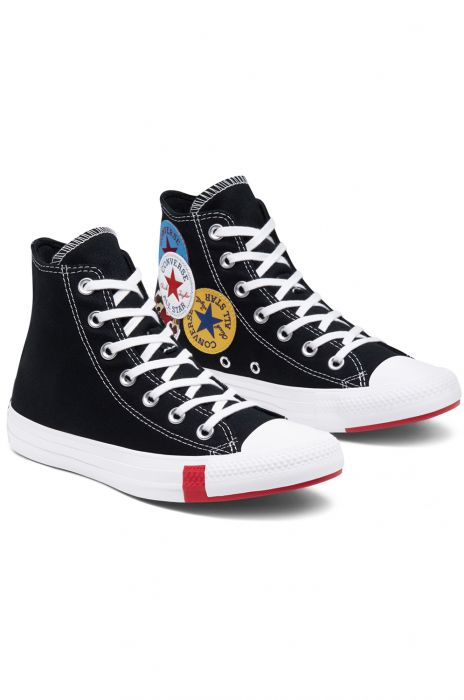 Converse Shoes CHUCK TAYLOR ALL STAR HI BlackUniversity Red