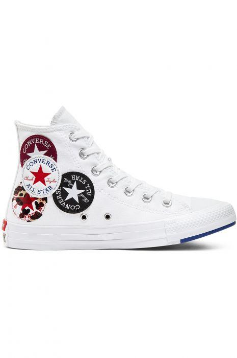 Tenis Converse CHUCK TAYLOR ALL STAR HI WhiteRush BlueRose