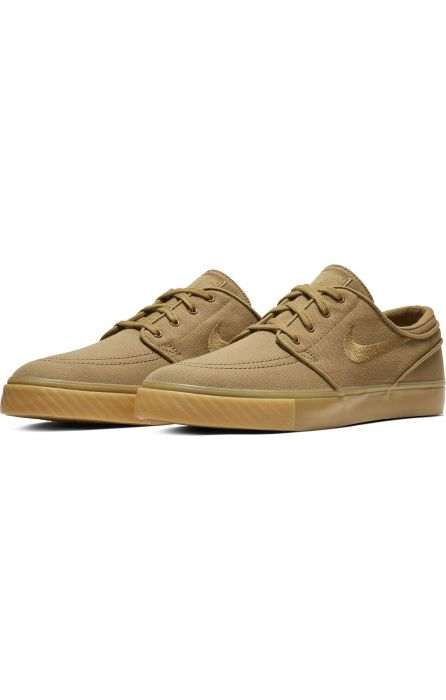 sports shoes e55cf 2f56c Nike Sb Shoes ZOOM STEFAN JANOSKI CNVS Golden Beige Golden Beige-Gum Yellow