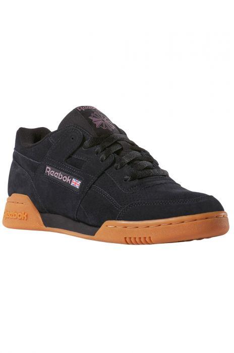 13391eaeb5bb8 Reebok Shoes WORKOUT PLUS MU Spg-Black/Noble Orchid/Gum