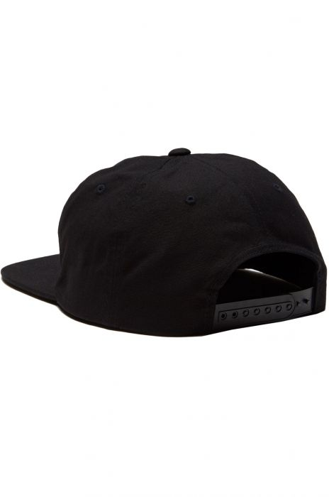 quality design 6622c d1587 RVCA Cap TOMBSTONE STRAPBACK Black
