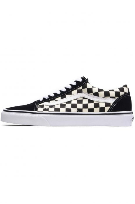 0fc0a03fdf3 Vans Shoes OLD SKOOL (Primary Check) Black White 35