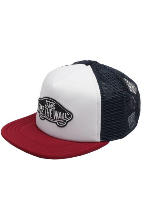 f4d49cf7624 Vans Cap CLASSIC PATCH TRUCKER White Rhumba Red
