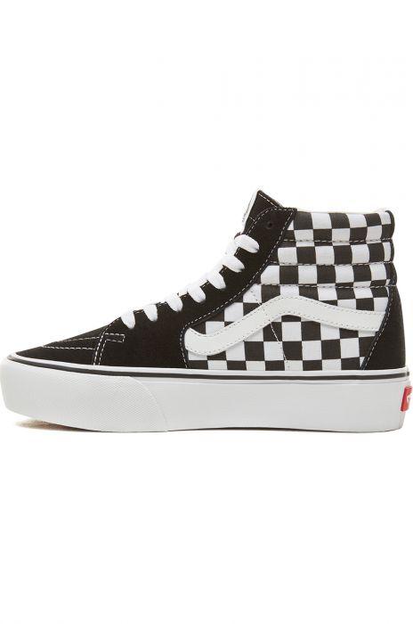 Vans Shoes SK8 HI PLATFORM 2.0 CheckerboardTrue White