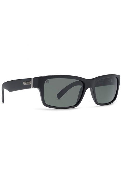 1ce75e187d5f VonZipper Sunglasses FULTON Black Satin   Grey